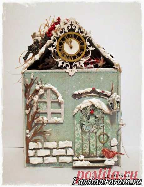 Новогодний домик - интересная упаковка для подарка - запись пользователя Елена в сообществе Новый год в категории Новогодний декор