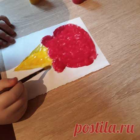 Приготовили с детьми краски для запекания. Рисуем, греем в микроволновке и вытаскиваем 😍 | Сами с усами. Поделки с детьми | Яндекс Дзен