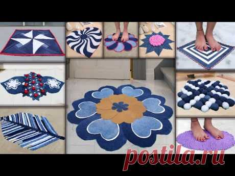 10 Jeans Doormat Making at Home || Old Clothe Reuse Recycle Ideas || Doormat