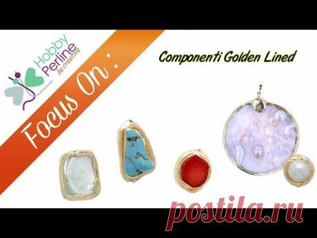 Componenti Golden Lined | FOCUS ON - HobbyPerline.com