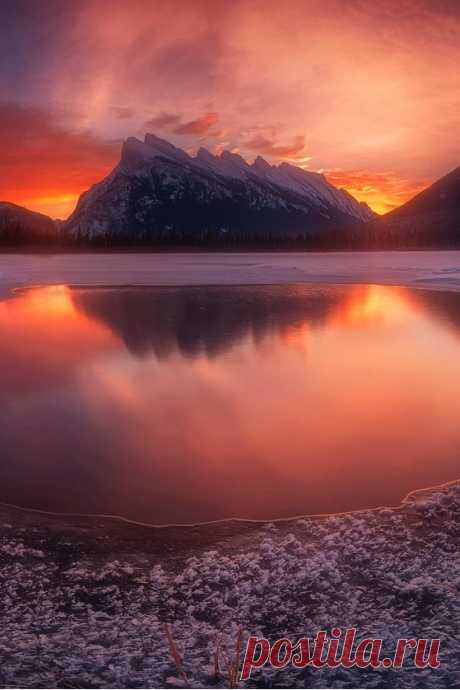 """sundxwn: """" Vermillion at Dawn by Carl Pan """""""
