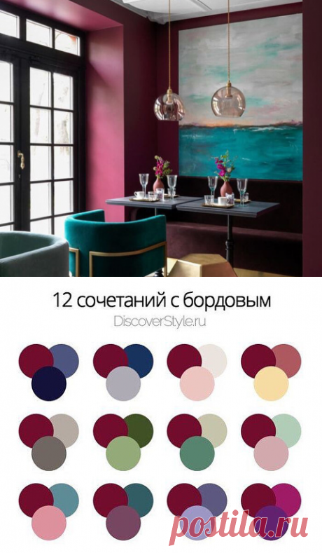 12 сочетаний с бордовым   Интерьер-школа Иоланты Федотовой   Яндекс Дзен