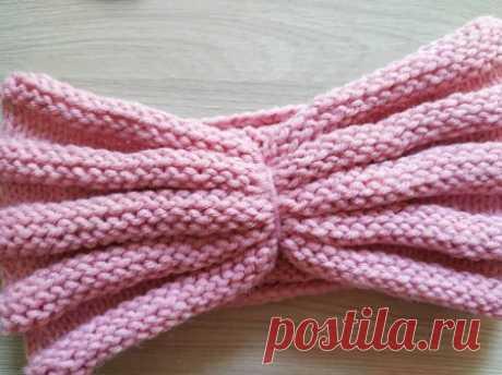 Вяжем красивую объемную повязку на осень » «Хомяк55» - всё о вязании спицами и крючком