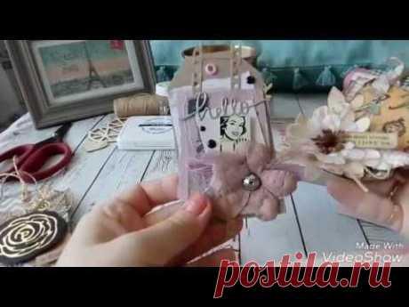 (2841) Стильная упаковка подарка, скрапбукинг в помощь, бирка ручной работы!!! - YouTube