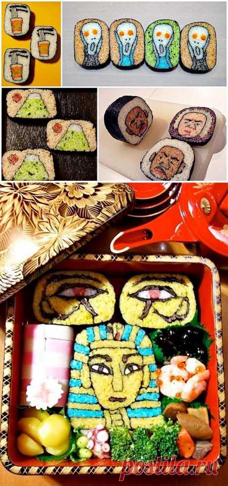 Удивительный суши-арт : НОВОСТИ В ФОТОГРАФИЯХ