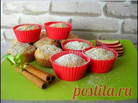 Яблочные кексики БЕЗ яиц и БЕЗ Молочных продуктов ☆ Постная выпечка