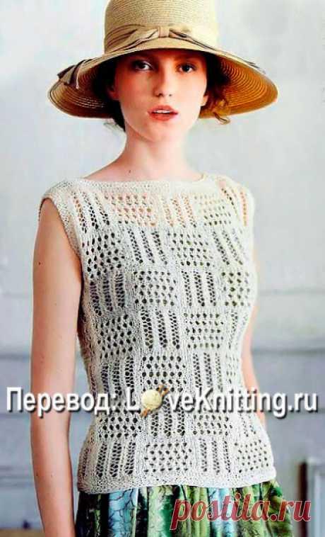 Пуловер на лето в ажурные квадраты Пуловер на лето в ажурные квадраты . Вязание, вязание и только вязание, а также всё, что с ним связано! Всё что вам нужно, вы найдете у нас: детское вязание, вязание для взрослых, а так же идеи вязания, работы для вдохновения и многое другое svjazat.ru