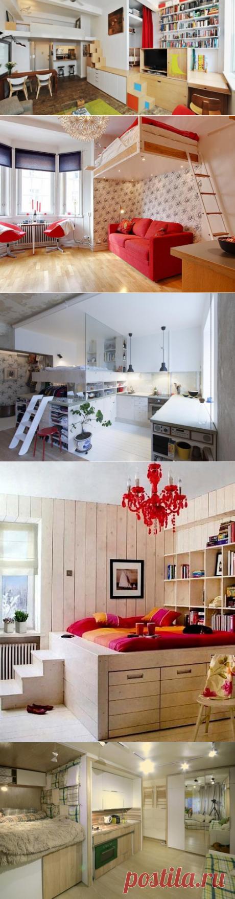 Варианты кроватей для небольших квартир — Правильные идеи ремонта интересные предложения для маленькой по площади квартиры,квартиры-студии.