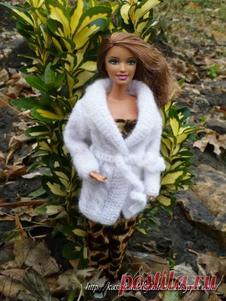 KasatkaDollsFashions: Описание: кофта спицами для Куклы Барби