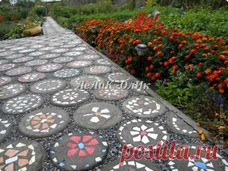 Плитка тротуарная для огорода своими руками!