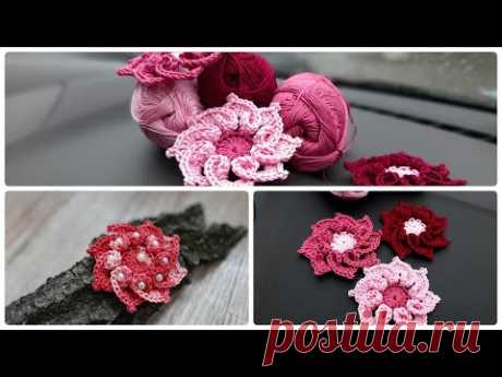 Knitted flower  Вязаный цветок