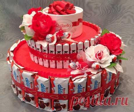 Как создать фантастический торт изкиндеров— лучшие мастер классы! Яркий торт из киндеров своими руками. Самые лучшие мастер классы по созданию шоколадного шедевра. Бисквитный киндер-сюрприз