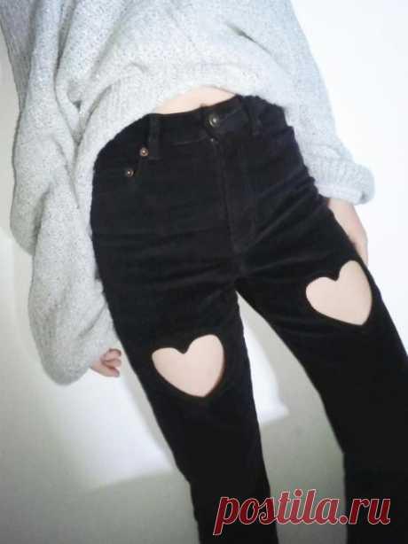 Еще одни джинсы с сердцами