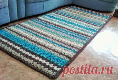 Как связать крючком коврик на пол: пошаговая инструкция