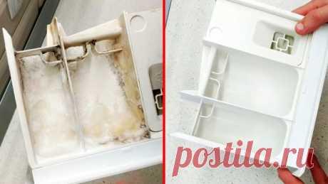 Как отмыть лоток стиралки, если их ничего не берет