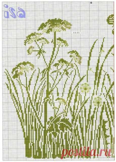 монохромная вышивка крестом схемы одуванчик: 10 тыс изображений найдено в Яндекс.Картинках