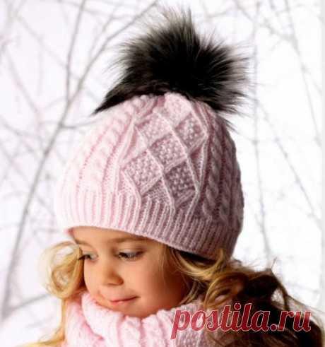 Детский комплект шапочка,снуд и варежки
