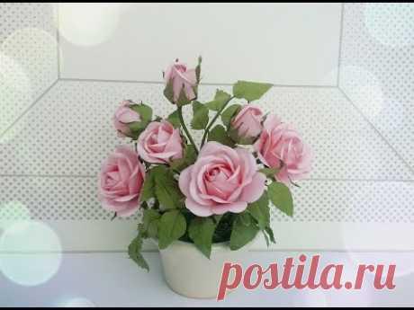 АВС ТВ | Как сделать розовый бумажный цветок с помощью формы Punch - Craft Tutorial