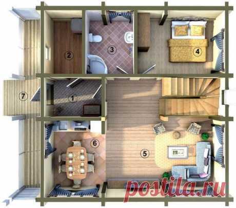 Планировка двухэтажного дома 6 на 6 м: создаем функциональное пространство. Расположение комнат. Планировка этажей. Возможные ошибки. Выбор материала.