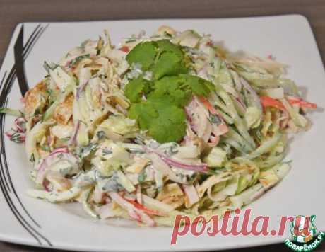 Салат с крабовыми палочками и сулугуни – кулинарный рецепт