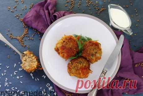 Рецепт тефтелей из гречки без мяса | Меню недели