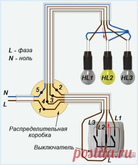 Схема подключения трехклавишного выключателя | Для дома, для семьи