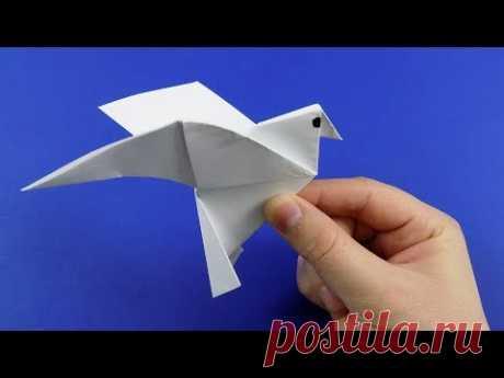 Как сделать голубя из бумаги своими руками. ОРИГАМИ ПТИЦА