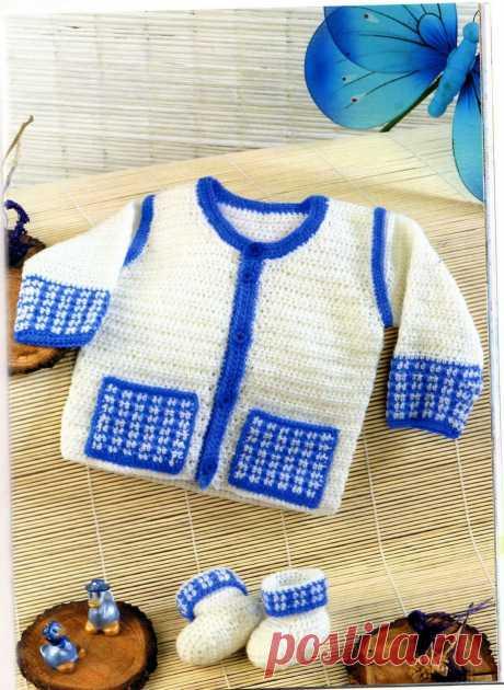 ❤ ✿ Mi Rincón del Tejido ✿ ❤: Saquito o chaqueta para bebé 0 a 3 meses