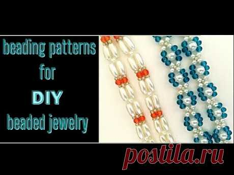 Beading patterns for diy beaded jewelry. beginner projects. how to make jewelry