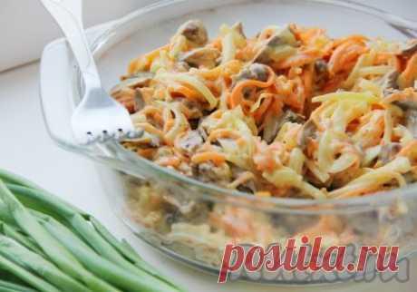 Салат с куриными сердечками и морковкой - 5 пошаговых фото в рецепте
