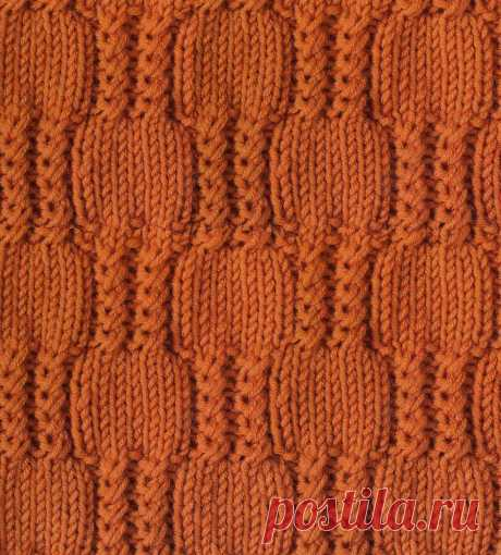 Узор с косами 80 — Shpulya.com - схемы с описанием для вязания спицами и крючком