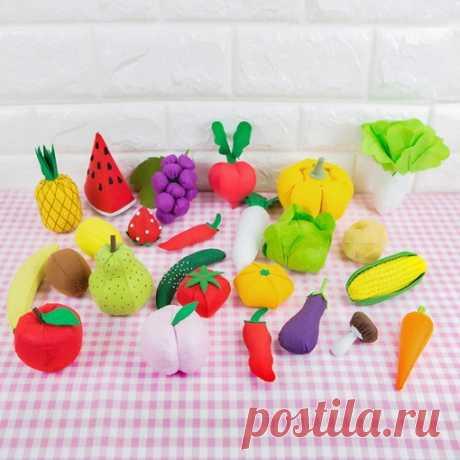 Набор фетра для создания овощей и фруктов  Содержит рисунок, иглу, нить, нетканый войлок, который был вырезан в качестве требуемой формы.  https://s.click.aliexpress.com/e/DlPV16re?product_id=..
