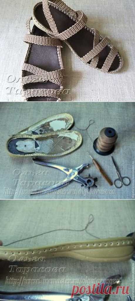 Knitted sandals | the hands