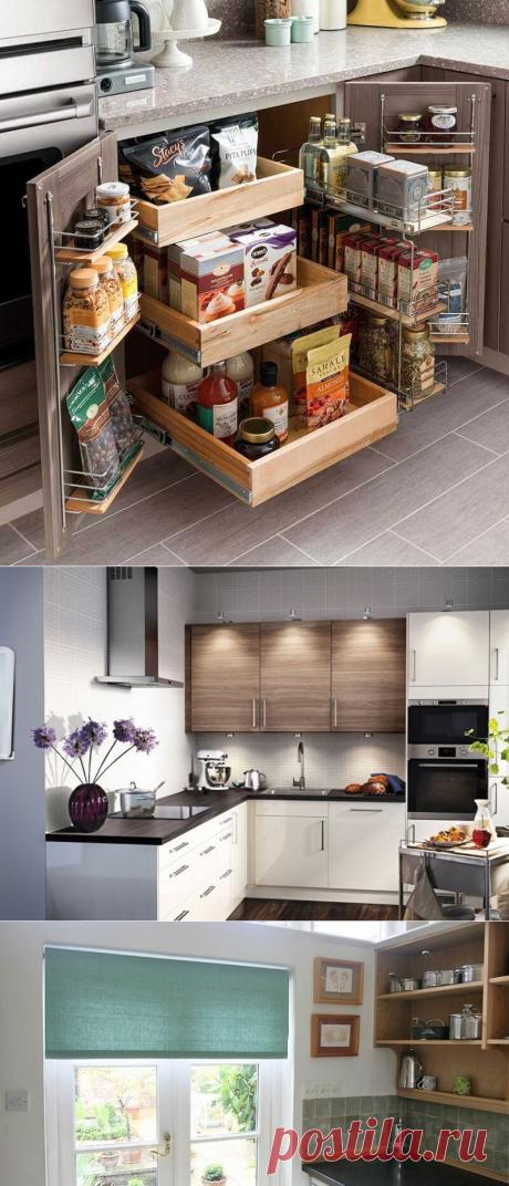 Когда хочется просторной кухни в хрущевке! 10 способов расширить ее без капитального ремонта. | Тысяча и одна идея