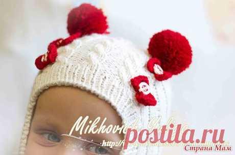 Шапочка шлем для малышки: