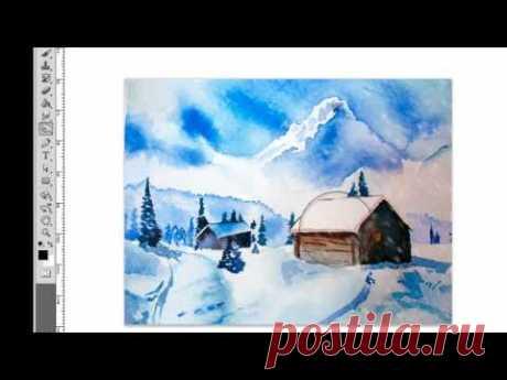 Оживите ваши картины! Падающий снег в фотошопе.mp4