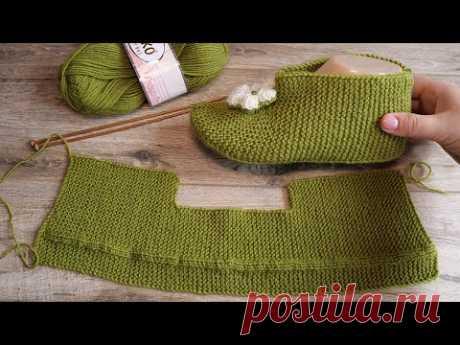 🌵 Полусапожки спицами 🌵 Ankle booties knitting pattern 👢