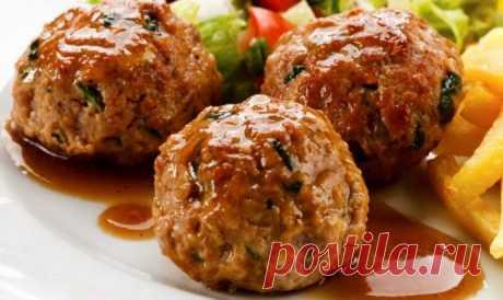 Аппетитные домашние фрикадельки из индейки с говядиной
