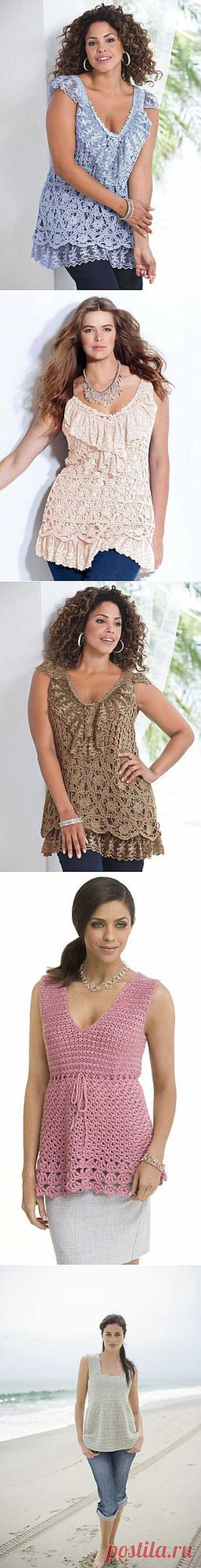 """For us, """"роскошных"""": smart a top tunic a hook with lace."""