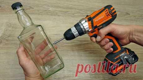 Как легко просверлить стекло, кафель или стеклянную бутылку | Мастер Сергеич | Яндекс Дзен