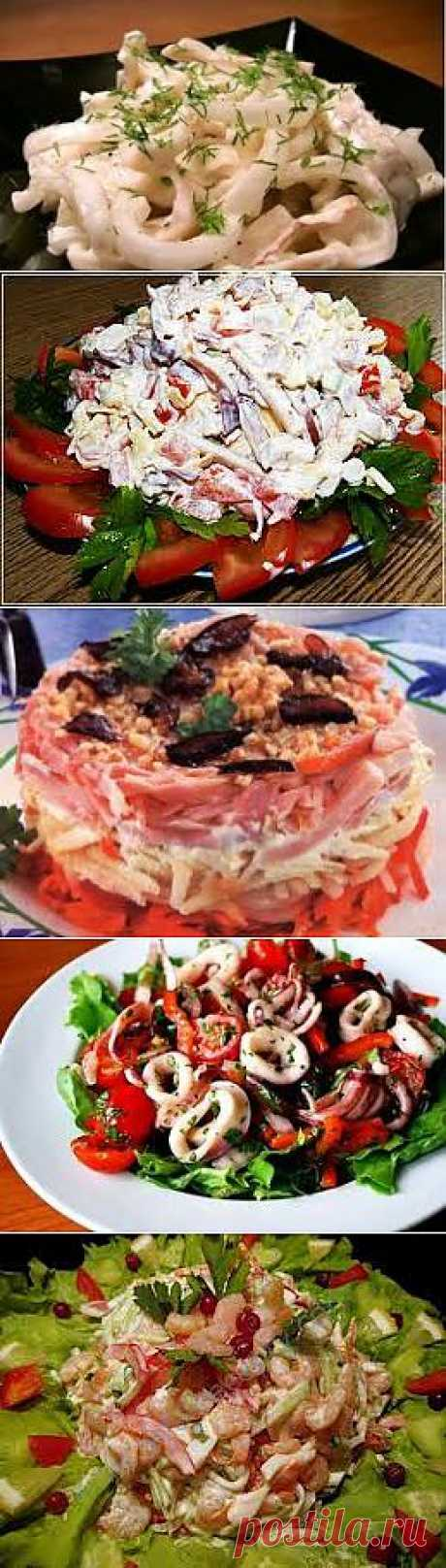 Салаты из кальмаров - Простые рецепты Овкусе.ру