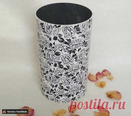 Ваза большая ручной работы черно-белая купить в Беларуси HandMade, цены в интернет магазинах