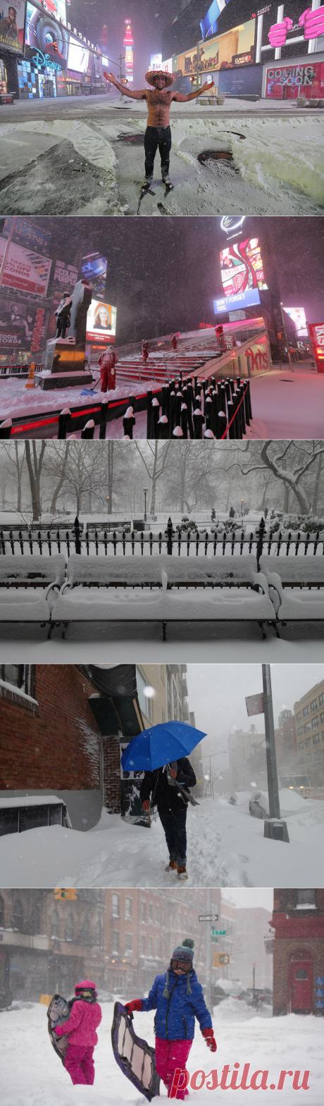 Снегопад в Нью-Йорке |2016