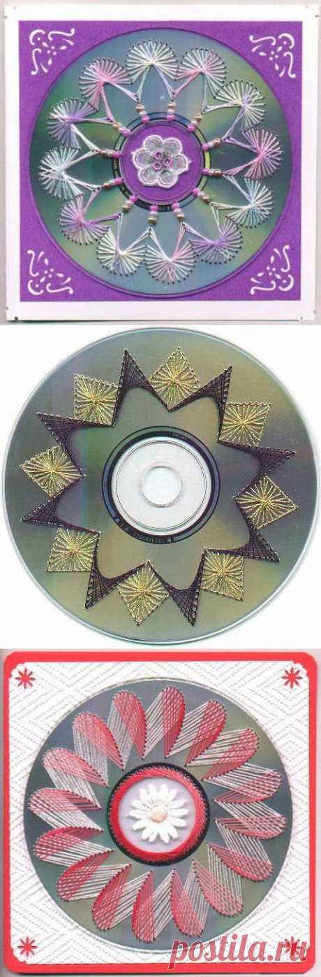 Сувениры из ненужных CD- и DVD-болванок.