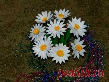 Recycled DIY: How to make DAISY flowers with waste plastic Carton?