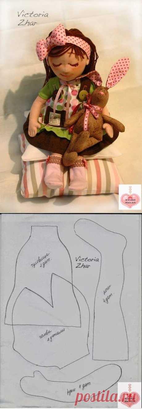 3 милые куклы+выкройки / Разнообразные игрушки ручной работы / PassionForum - мастер-классы по рукоделию