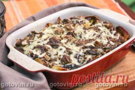 Картошка с мясом и грибами в духовке. Рецепт с фото