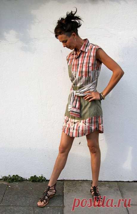 Платье из рубашек