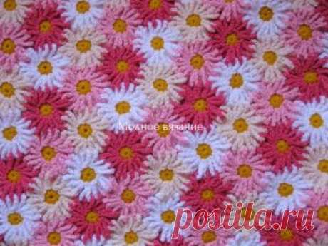 Цветочные пледы крючком - *Герберы* и *Ромашки* - Crochet Modnoe Vyazanie