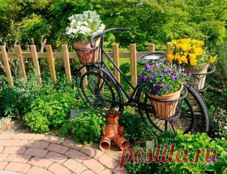 Красивое оформление клумб и цветников на участке: 55 ярких идей своими руками   Живу за городом